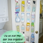 shoe holder for household cleaners